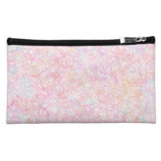 Colorful Modern Strings - Pearl Pastel Makeup Bag