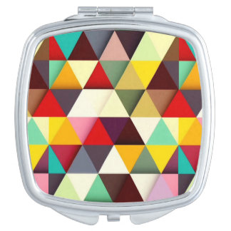 Colorful Modern Triangle Pattern Makeup Mirrors