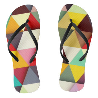 Colorful Modern Triangle Pattern Thongs