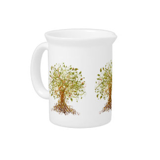 Colorful Modernist Tree 13 Beverage Pitchers