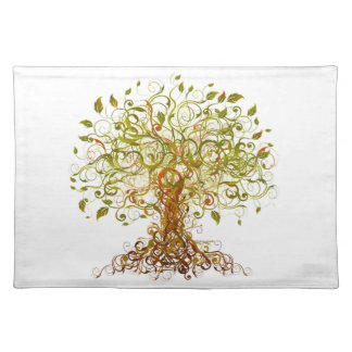 Colorful Modernist Tree 13 Placemat