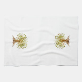 Colorful Modernist Tree 13 Towels