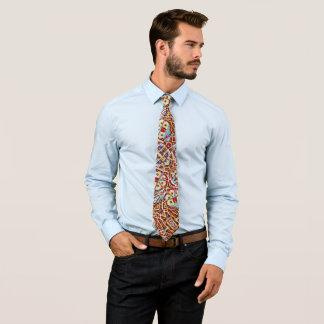 Colorful Money Foulard On Satin Tie