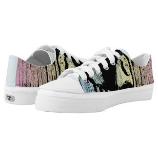 Colorful Monkey Illustration - POP-ART Low Tops