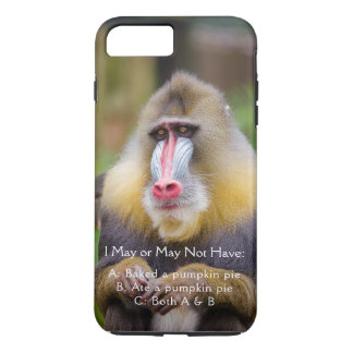 Colorful Monkey Photo Funny Thanksgiving Quote iPhone 8 Plus/7 Plus Case