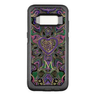 Colorful Monogram Celtic Heart Knot Mandala OtterBox Commuter Samsung Galaxy S8 Case
