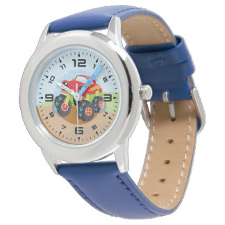Colorful monster truck watch