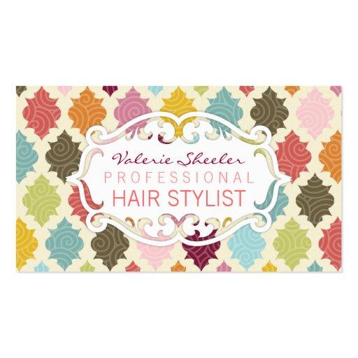 Colorful Moroccan Quatrefoil - Custom Bizcards Business Cards