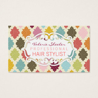 Colorful Moroccan Quatrefoil - Custom Bizcards Business Card