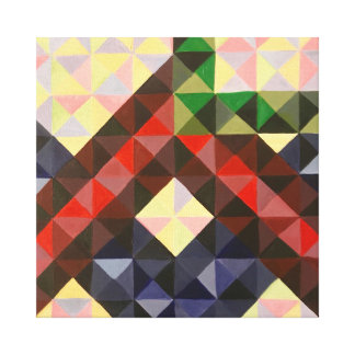 "Colorful Mosaic 12"" x 12"", 1.5"" Canvas Print"