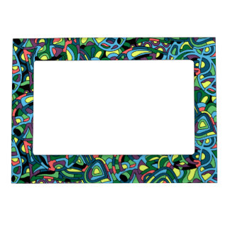 Colorful Mosaic Abstract Pattern Magnetic Picture Frame