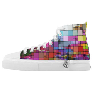 Colorful Mosaic Design High Tops
