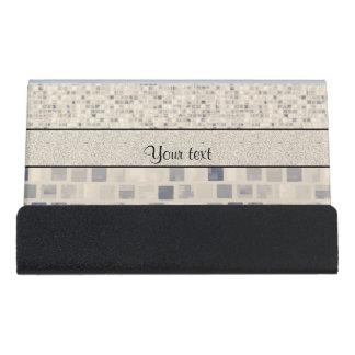 Colorful Mosaic Desk Business Card Holder