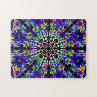 Colorful Mosaic Mandala | Peaceful Puzzle