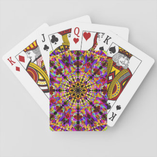 Colorful Mosaïc Mandala Playing Cards