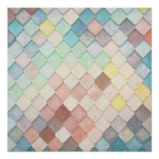 Colorful Mosaic Pattern Poster