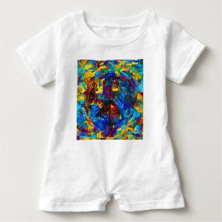 Colorful mosaic peace symbol baby bodysuit
