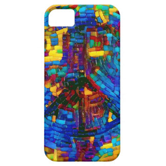 Colorful mosaic peace symbol case for the iPhone 5