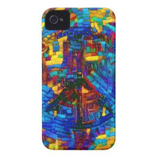 Colorful mosaic peace symbol Case-Mate iPhone 4 case