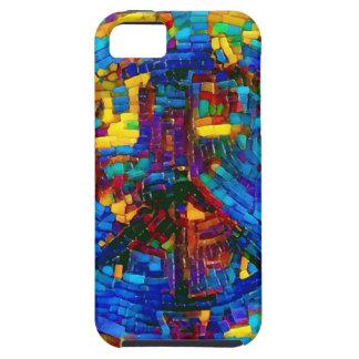 Colorful mosaic peace symbol iPhone 5 case