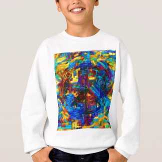 Colorful mosaic peace symbol sweatshirt