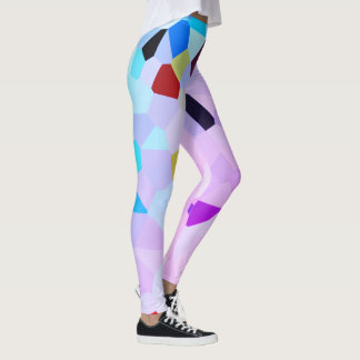 Colorful Mosaic Style Leggings