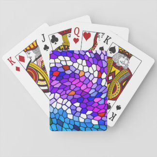 Colorful Mosaic Tile Pattern Playing Cards