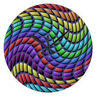 Colorful Mosaic Tiles Wall Clock