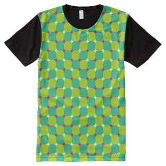 Colorful Moving Optical Illusion Pattern All-Over Print T-Shirt