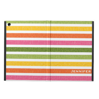 COLORFUL MULTI STRIPE FAUX CROC COVER FOR iPad AIR