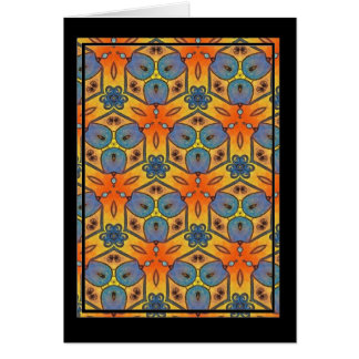 Colorful multicolor repeat patterns greeting cards