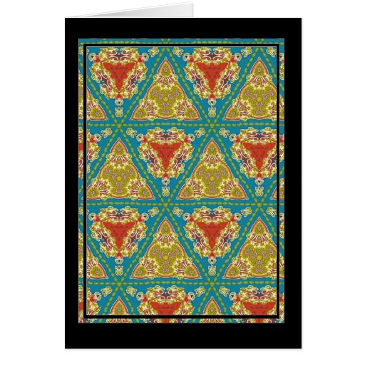 Colorful multicolor repeat patterns cards