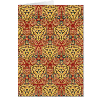 Colorful multicolor repeat patterns greeting card