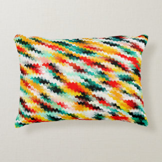 Colorful Multicolored Abstract Pattern Decorative Cushion