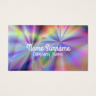 Colorful multicolored pattern business card