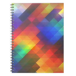 Colorful Multicolored Triangle Pattern Spiral Note Books