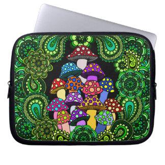 Colorful Mushrooms Laptop Sleeve