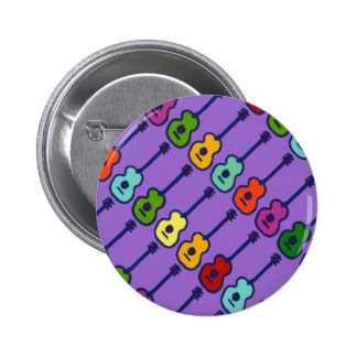 colorful music instruments 6 cm round badge
