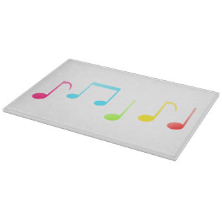 Colorful Music Notes Cutting Board
