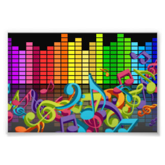 colorful music notes equalizer sounds photo
