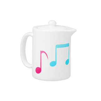 Colorful Music Notes Tea Pot
