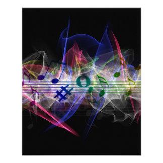 Colorful Music Style 11.5 Cm X 14 Cm Flyer