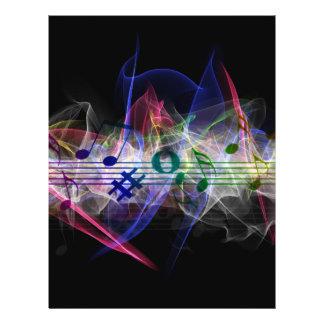 Colorful Music Style 21.5 Cm X 28 Cm Flyer