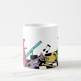Colorful Musical Instruments Coffee Mug