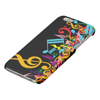 Colorful Musical Notes Glossy iPhone 6 Case