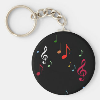 colorful musical notes key ring