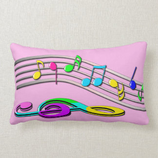 Colorful Musical Notes Lumbar Cushion