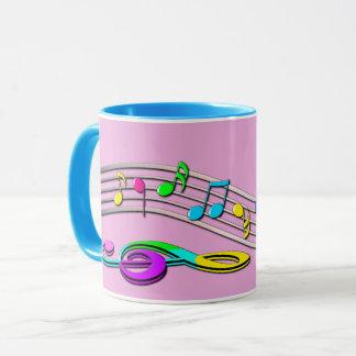 Colorful Musical Notes Mug