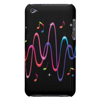 Colorful musical notes music sound waves ipod case Case-Mate iPod touch case