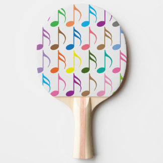 Colorful musical notes pattern